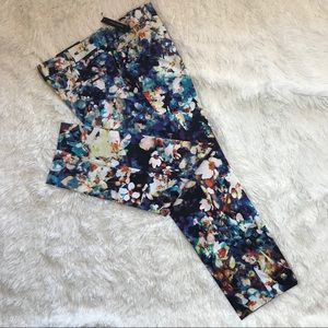 Worthington Floral Print Petite Slim Fit Pants 4P